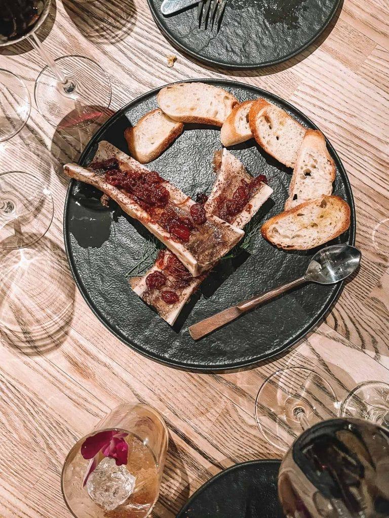 bone marrow appetizer at alchemist in paso robles california