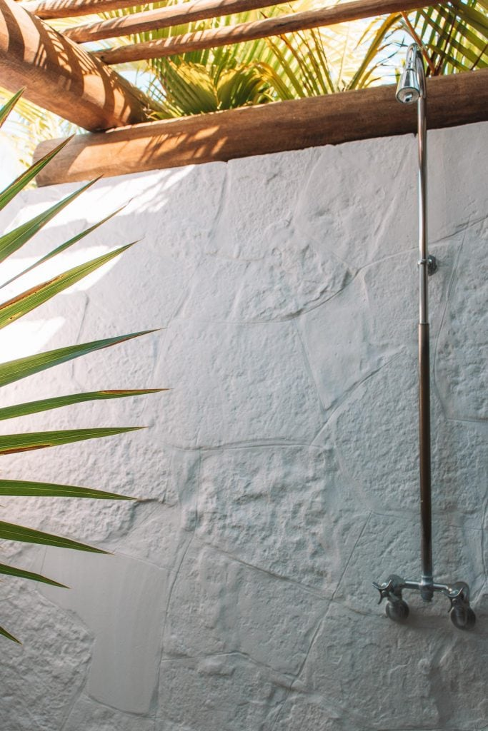 outdoor shower at the st regis punta mita mexico