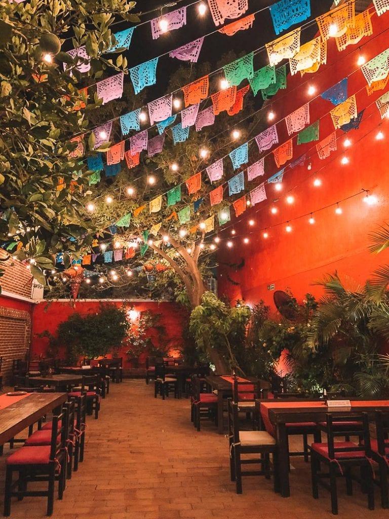 traditional mexican decor at los tres gallos cabo