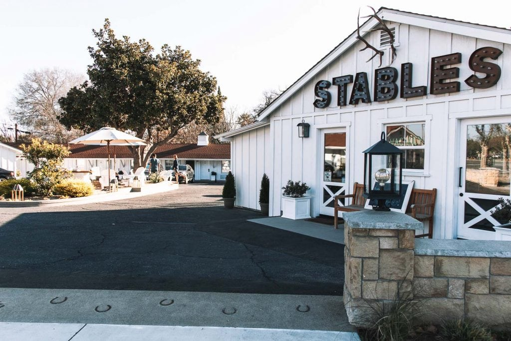 front entrance of the stables inn in paso robles california