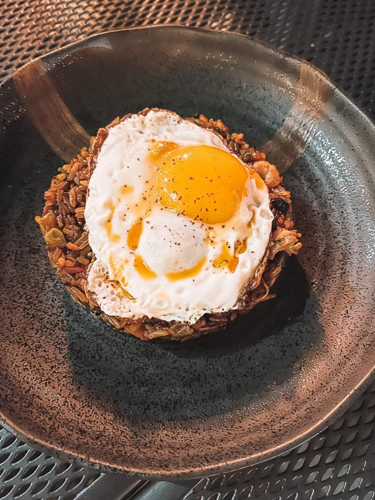 nasi goreng with fried egg