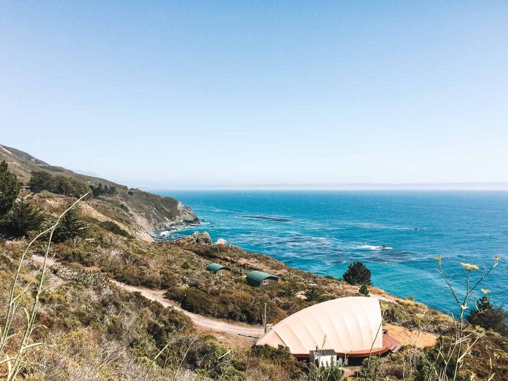 autonomous glamping tent at treebones resort in big sur
