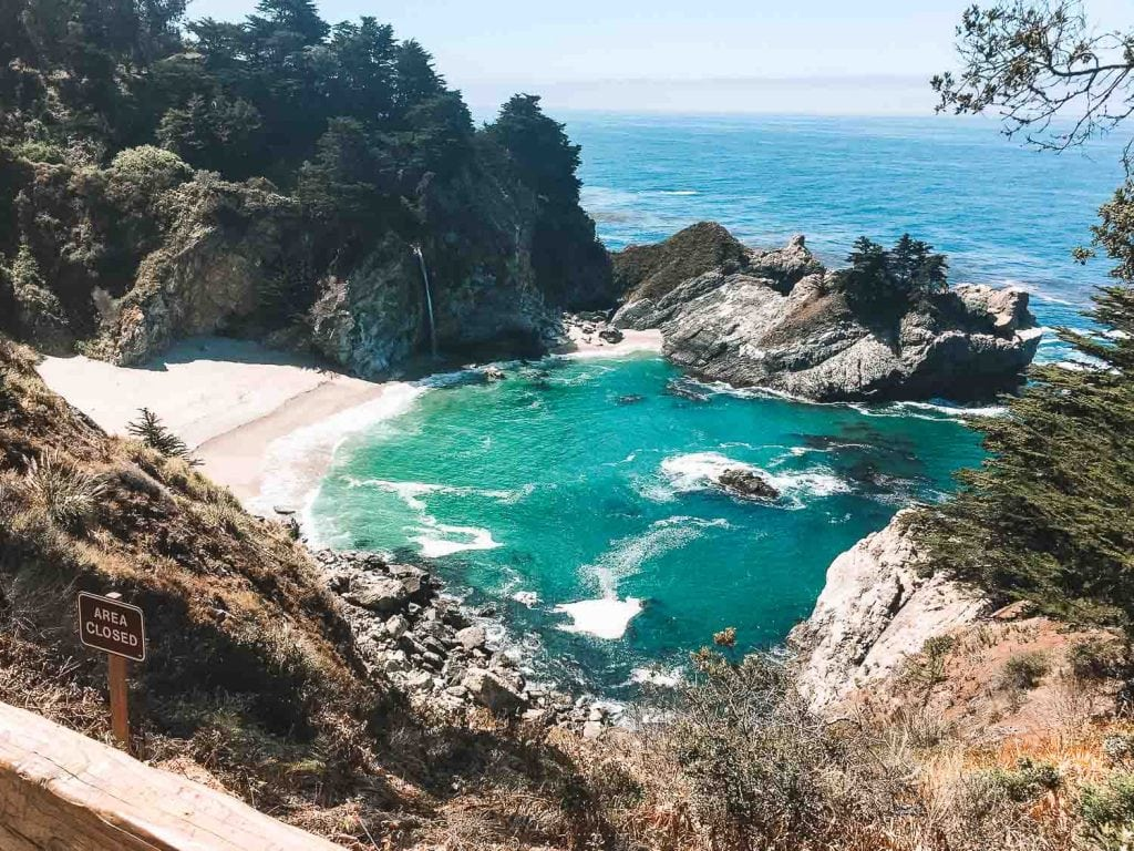 mcway falls in julia pfeiffer burns state park in big sur california