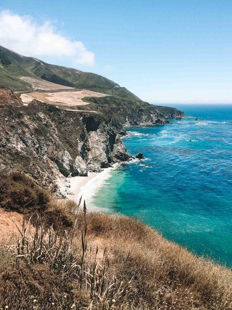 rugged coastline of big sur in california