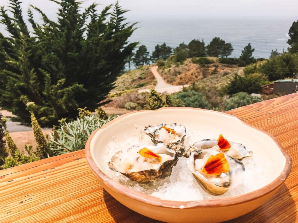 dining option while glamping at treebones resort big sur