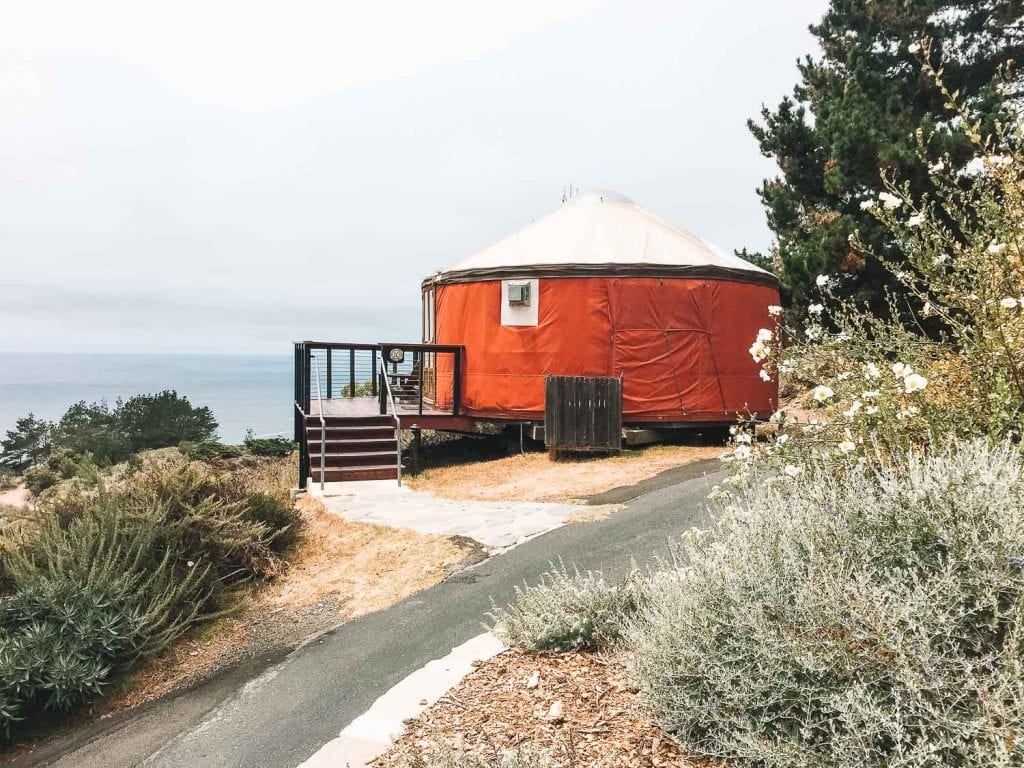 glamping yurt at treebones resort big sur
