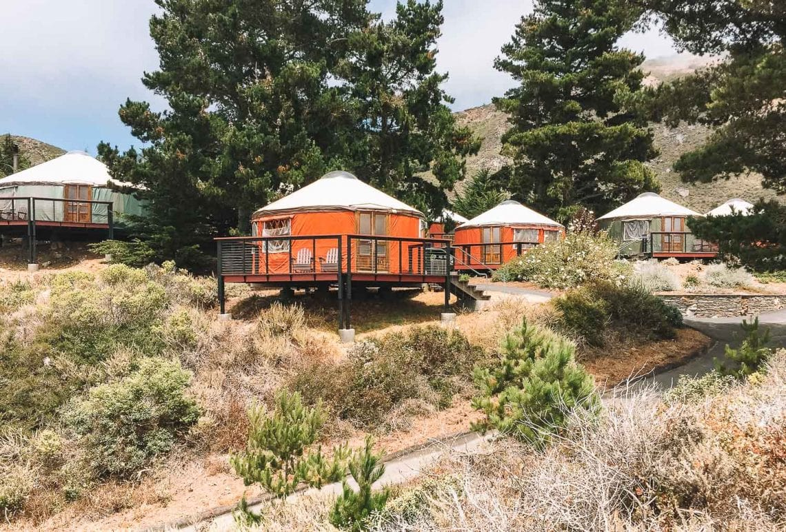 glamping in yurts in big sur california