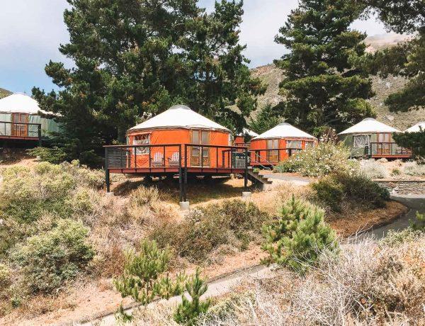 glamping in yurts in big sur california